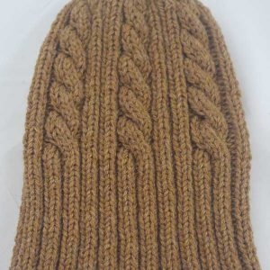 22F Rib & Cable Hat peppercorn full