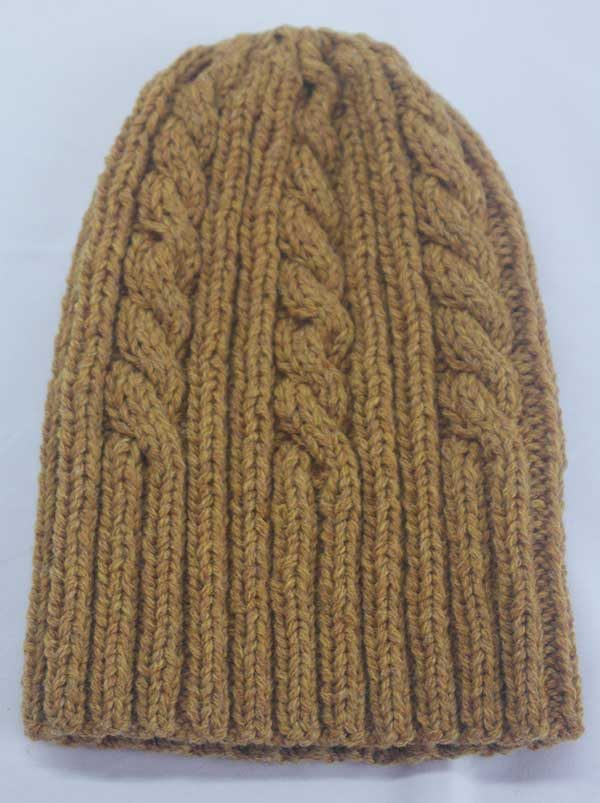 22F Rib & Cable Hat Cummin Full