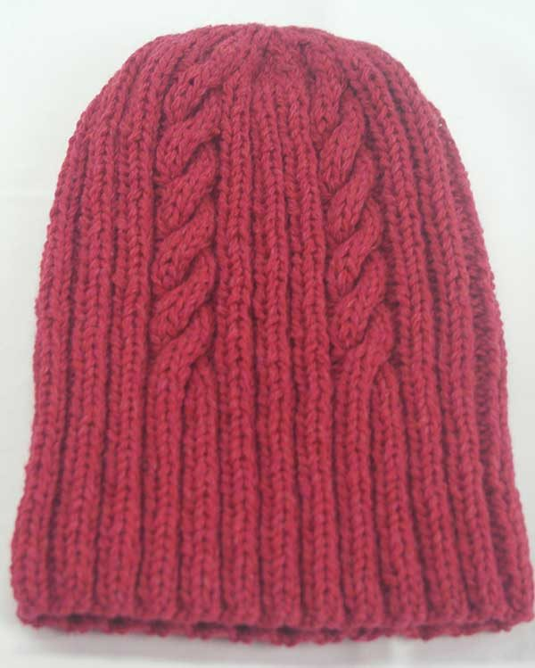 22F Rib & Cable Hat Grenadine Full