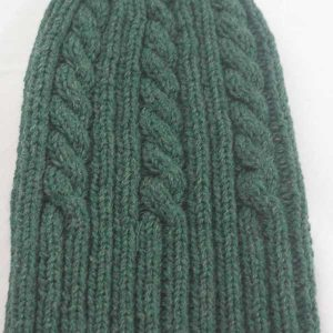 22F Rib & Cable Hat Lush full