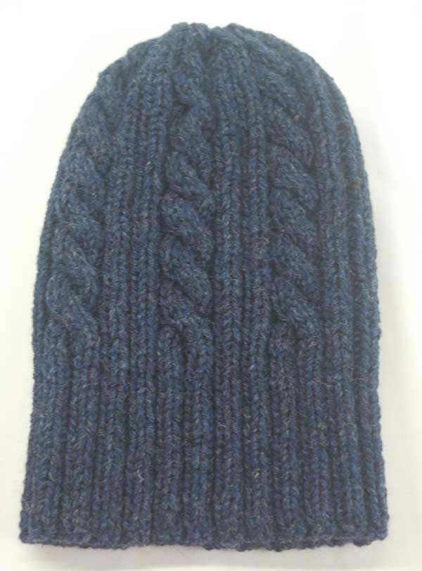 22F Rib & Cable Hat Denim Full