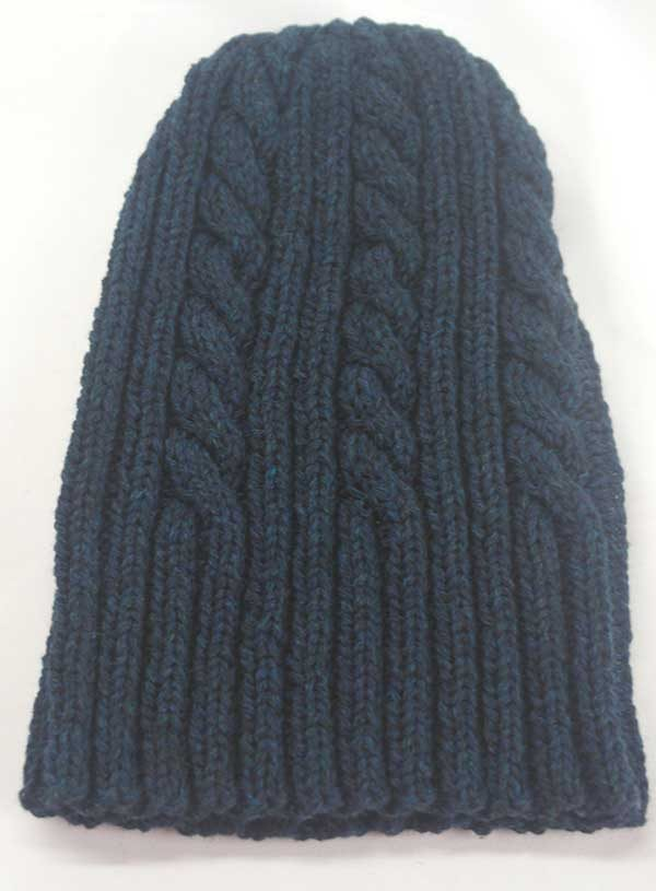 22F Rib & Cable Hat Petrel full