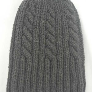 22F Rib & Cable Hat Spruce Full