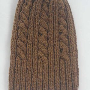22F Rib & Cable Hat Pecan full