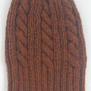 22F Rib & Cable Hat Rust Full
