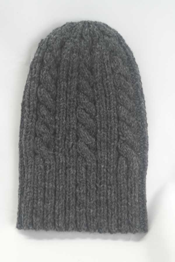 22F Rib & Cable Hat Oxford Full