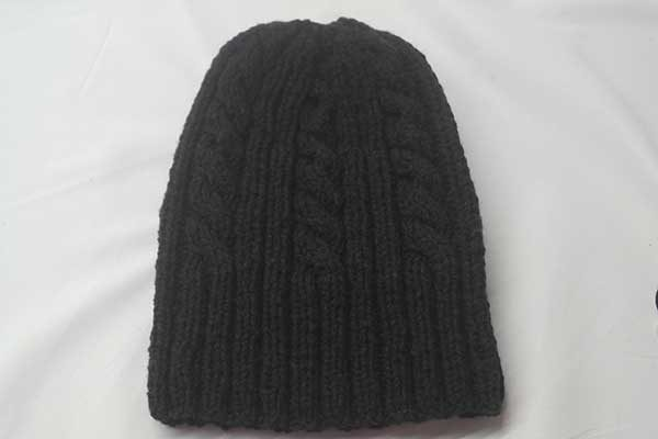 22F Rib & Cable Hat Truffle Full