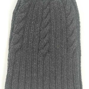 22F Rib & Cable Hat Charcoal Full