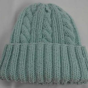 22F Rib & Cable Hat Artic