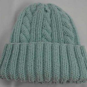 22F Rib & Cable Hat Artic