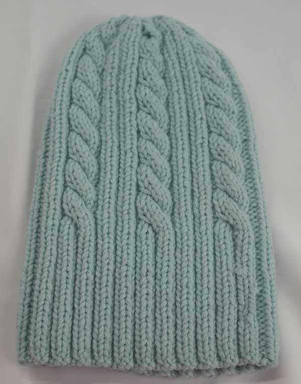 22F Rib & Cable Hat Artic Full
