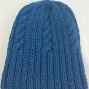 22F Rib & Cable Hat Neptune Full