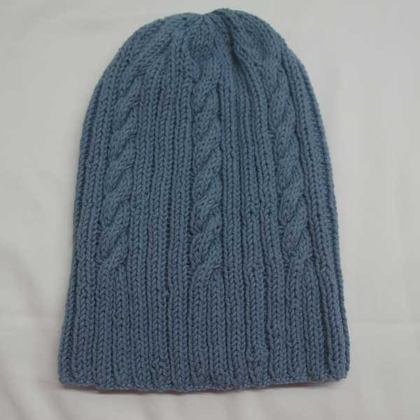 22F Rib & Cable Hat 309a Mist 523