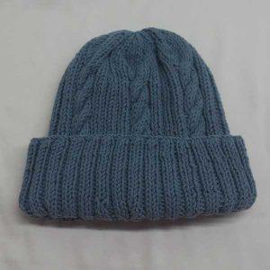 22F Rib & Cable Hat 309b Mist 523
