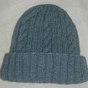 22F Rib & Cable Hat Marlin