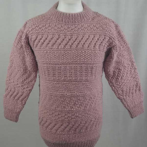 2A Standard Gansey Crew Neck Sweater Pink