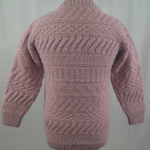 2A Standard Gansey Crew Neck Sweater Pink Back