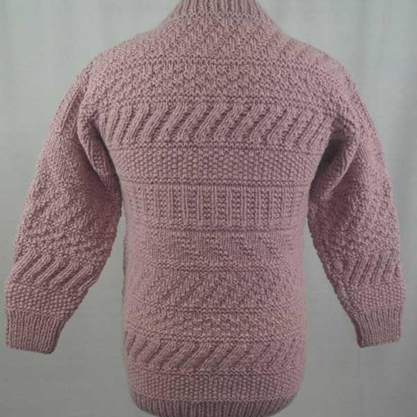 2A Standard Gansey Crew Neck Sweater Pink Back