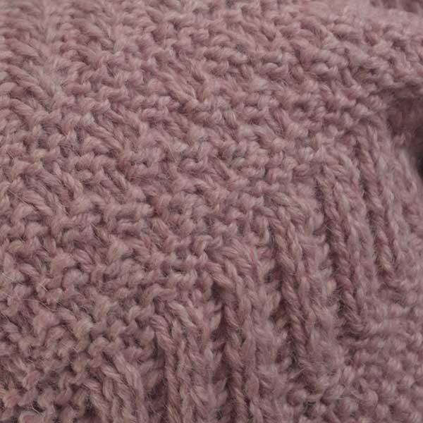2A Standard Gansey Crew Neck Sweater Pink Alpaca Mix