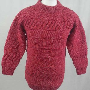 2A Standard Gansey Crew Neck Sweater Plum