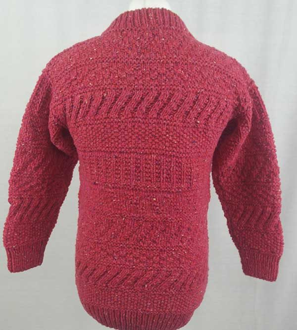 2A Standard Gansey Crew Neck Sweater Plum Back