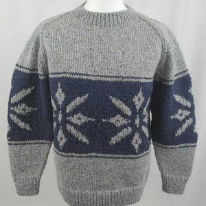 31C Snowflake Crew Neck Sweater Grey