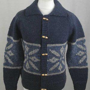31D Snowflake Lumber Cardigan Denim