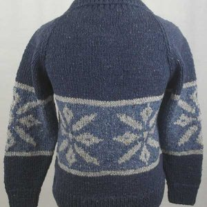 31D Snowflake Lumber Cardigan Denim Back