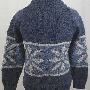31D Snowflake Lumber Cardigan Denim Back