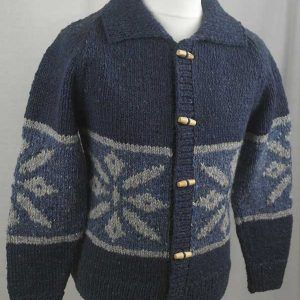 31D Snowflake Lumber Cardigan Denim Side