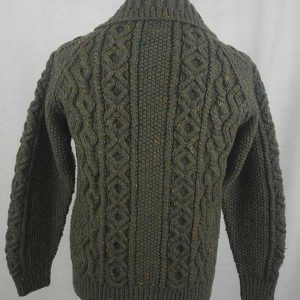 3A Lumber Cardigan Loden Back