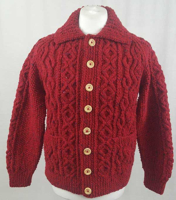 3A Lumber Cardigan Red