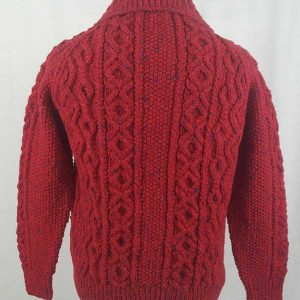 3A Lumber Cardigan Red Back