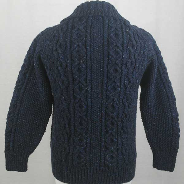 3A Lumber Cardigan Blue Back