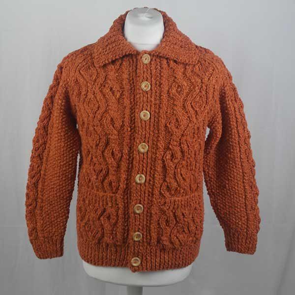 3A Lumber Cardigan 296a Orange 7019