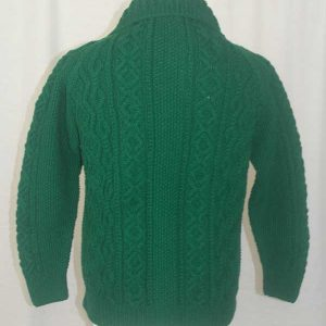 3A Lumber Cardigan Green Back