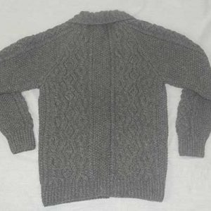 3A Lumber Cardigan Grey Back