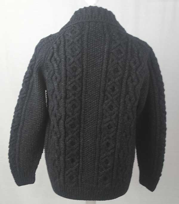 3A Lumber Cardigan Charcoal Back