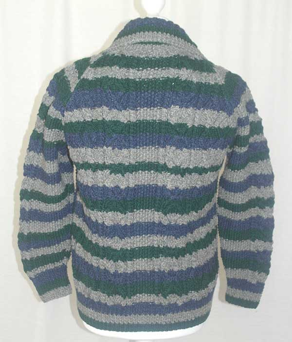3A Ripple Lumber Cardigan Assorted Back