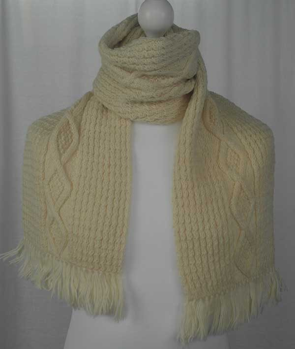 40G Diamond Scarf Ivory