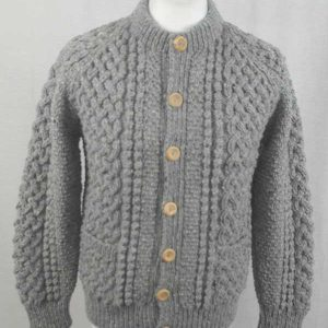 4A Golfer Cardigan Grey