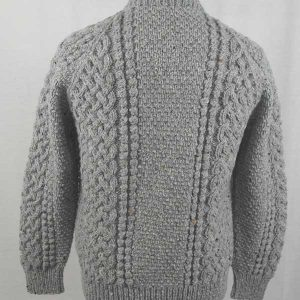 4A Golfer Cardigan Grey Back
