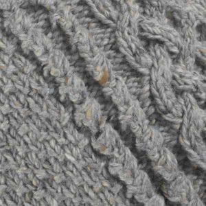 4A Golfer Cardigan Grey Donegal Tweed