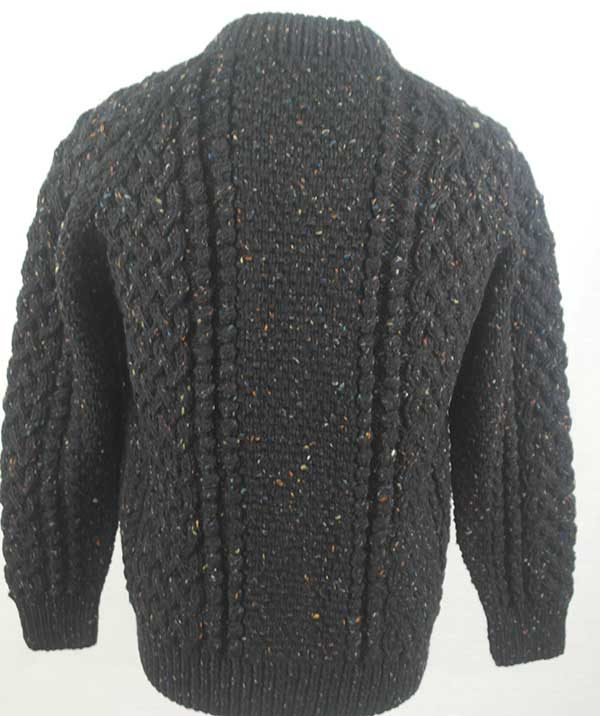 4A Golfer Cardigan Black Back