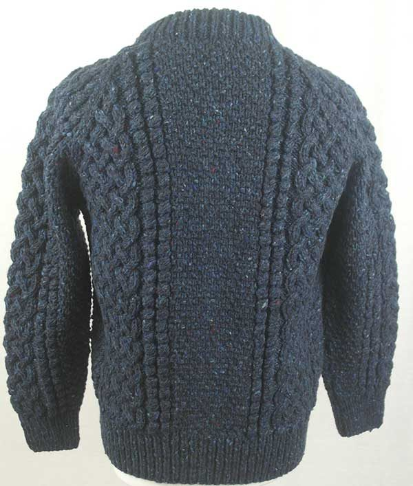 4A Golfer Cardigan Blue Back
