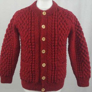 4A Golfer Cardigan Red