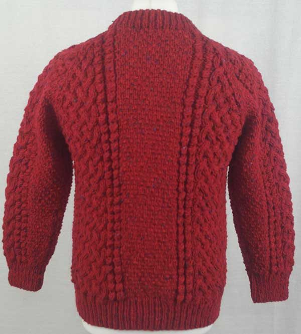 4A Golfer Cardigan Red Back