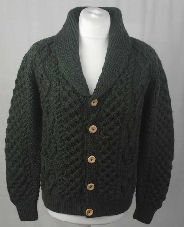 6A Shawl Collar Cardigan Alpine