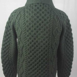 6A Shawl Collar Cardigan Alpine Back