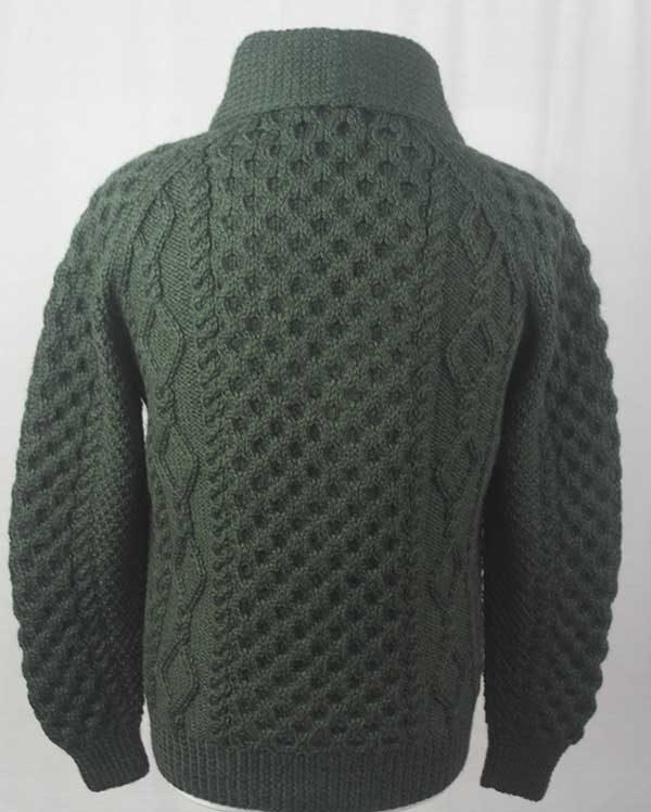 6A Shawl Collar Cardigan Alpine Back